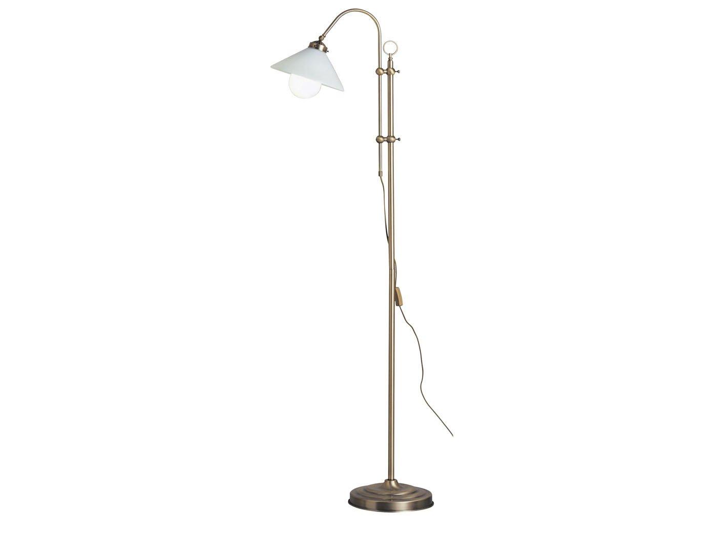 Hohenverstellbare Led Stehlampe Landlife In Altmessing