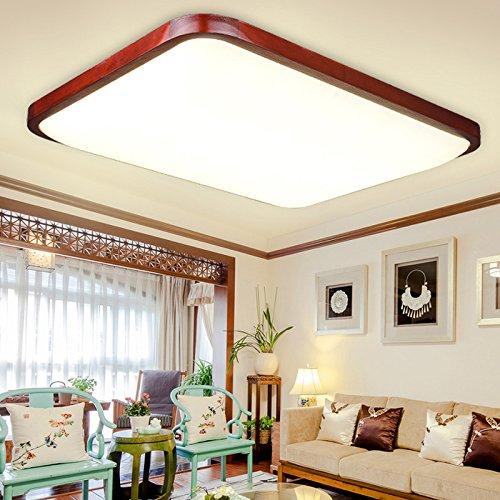BLYC- Moderne verstellbare Licht chinesischen Stil Lampe rechteckige LED Guangyakeli einfache dünne feste Holz Wohnzimmer Schlafzimmer Studie Deckenleuchte 690 * 470mm