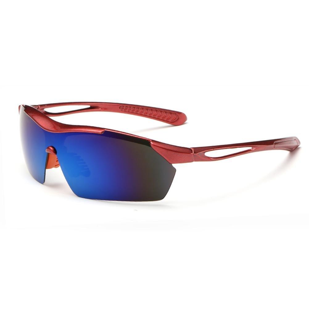 Coolsir 8523 Polarized Sports Hommes Lunettes De Soleil Pour Ski Conduite Golf Running Cyclisme Superlight Cadre Conception Pour Hommes Et Femmes , Blue