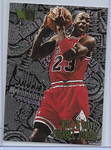 ac5b25e1bc 1995-96 Fleer Metal Basketball Michael Jordan Nuts & Bolts Insert Card # 212