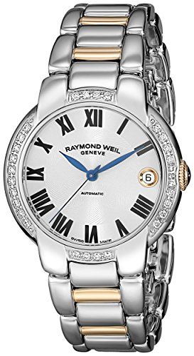 Raymond-Weil-Womens-Jasmine-Stainless-Steel-Watch-with-Two-Tone-Stainless-Steel-Link-Bracelet
