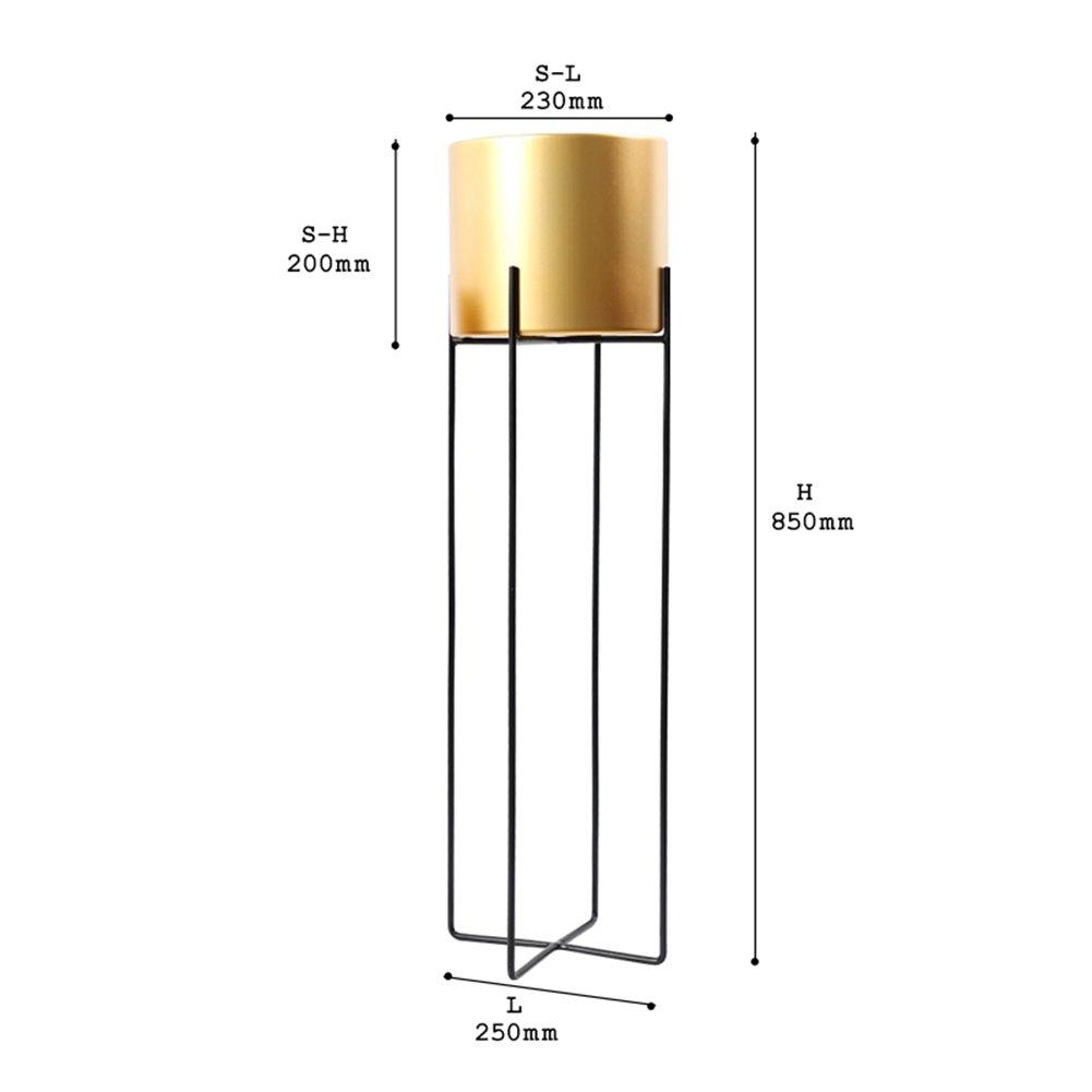 LXLA- ヨーロッパスタイルのアイロンフラワースタンドフロアスタンディング屋内オーナターディスプレイシェルフリビングルームポットラックバルコニーシンプルモダン (色 : ゴールド, サイズ さいず : 25×85cm) B07DBQ67TL 25×85cm|ゴールド ゴールド 25×85cm