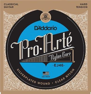 D'Addario EJ46 Pro-Arte Nylon Classical Guitar Strings, Hard Tension by D'Addario &Co. Inc