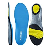 Sky Blue Size 7 Running Shoe Insoles- Arch Replacement Sports Shoe Inserts-Comfort and Extra Support for Heavy Duty, Fits Work Boots, Casual Shoes & Sneakers