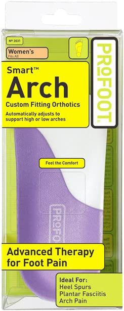 Profoot Care Smart Arch Custom Molding Orthotic, Women's, Purple and White, 1 Pair