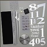 YCDC Super Big DIY Clock Home Living Room Mirror Face Decorative Clock Sticker