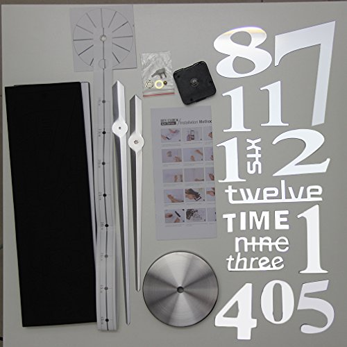 YCDC Super Big DIY Clock Home Living Room Mirror Face Decorative Clock Sticker by YCDC