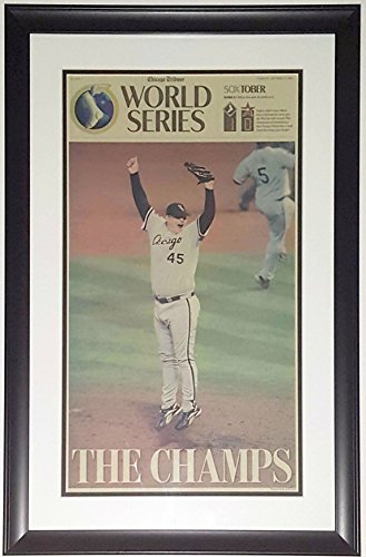 CHICAGO WHITE SOX 2005 WORLD SERIES CHICAGO TRIBUNE NEWSPAPER SPORTS SECTION 10/27/05 - PROFESSIONALLY FRAMED 14x28 from Chicago Tribune