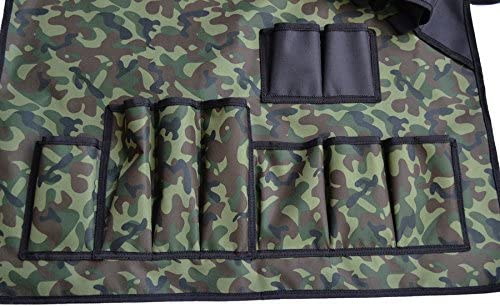 Grembiuli per Barbecue all'aperto Impermeabile Resistente allo Sporco Camouflage Attrezzo da Campeggio Grembiule Grembiuli per Barbecue Grembiule in Terylene con Tasca 70 * 75 cm