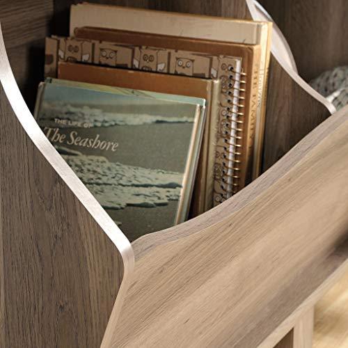 """512Ej4AdAhL - Sauder 420327 Harbor View Bin Bookcase, L: 43.15"""" x W: 15.51"""" x H: 33.47""""Salt Oak finish"""