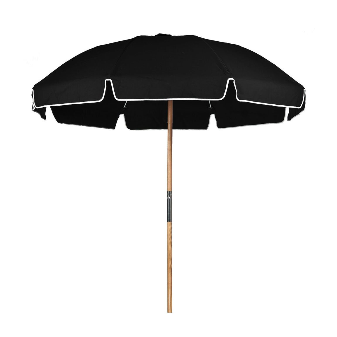 7.5 ft. Avalon Fiberglass Heavy Duty Commercial Grade Beach Umbrella with Ash Wood Pole & Acrylic Fabric