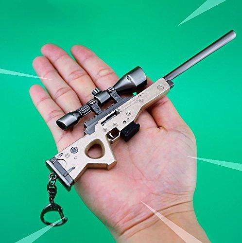 Juegos Metal 1/6 AWP Modelo Figura de acción Francotirador Rifle Pistola Modelo Artes Juguetes Colección Llavero Regalo.