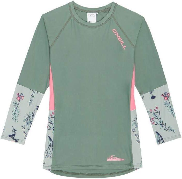 ONEILL – Camiseta UV para niña – Camiseta de Manga Larga – Impresión – Verde nenúfar: Amazon.es: Deportes y aire libre