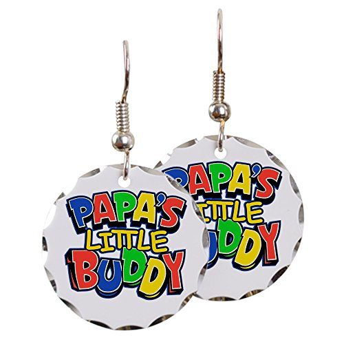 511d964af Earring Circle Charm Papa's Little Buddy Dad Father Son