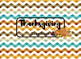 "thanksgiving decorating ideas Thanksgiving Guestbook: Zig Zag Guest Book Message Book | Keepsake Recorder | Lined Ruled Family Holiday Gifts 8.25"" X 6"" Small 