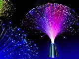 E&A 2Pcs LED Colourful Changing Fibre Fiber Optic Fountain Night light Calming Lamp Christmas