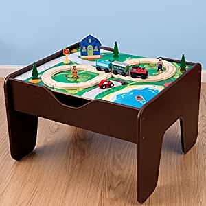 Table is great for hours of play. Durable and easy to assemble and children will get years of imaginative play KidKraft 2-in-1 Espresso Train & LEGO Activity Table