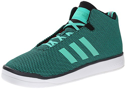 Adidas Veritas Mid Mens Casual Sneakers Size Us 8, Regular Width, Color Black/white/pink Green