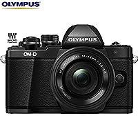 Olympus OM-D E-M10 Mark II Mirrorless Digital Camera w/ 14-42mm EZ Lens (Black) V207052BU000 - (Certified Refurbished)
