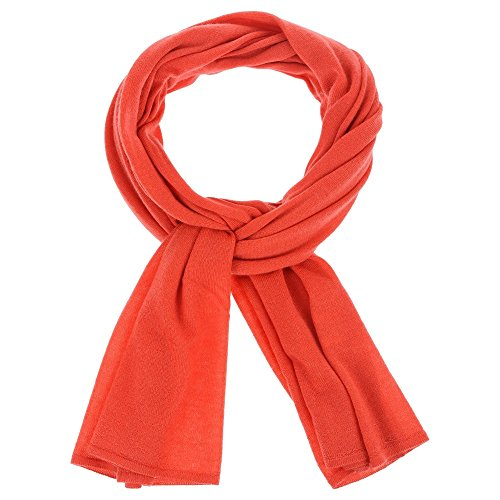 Womens Scarf 100% Cashmere Colors - Red by LES POULETTES