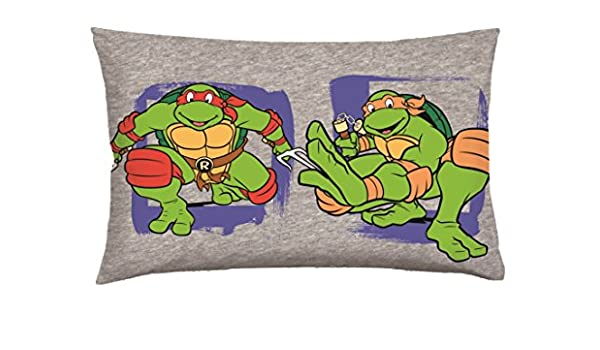 Tortugas Ninja T & F Almohada Individual, 100% algodón, Gris ...