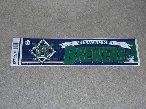 - MILWAUKEE BREWERS BASEBALL BUMPER STICKER VERY COLORFUL