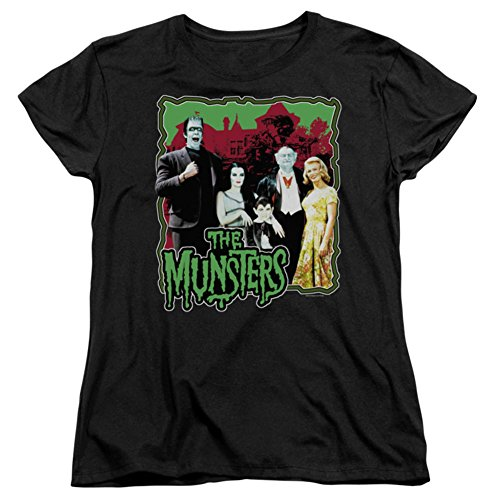 Ptshirt.com-19240-Munsters Normal Family Short Sleeve Womens Tee Shirt-B00KSNW4DA-T Shirt Design