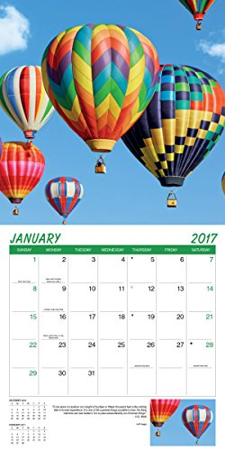 Turner Photo 2017 Hot Air Ballons Photo Wall Calendar, 12 x 24 inches opened (17998940026) Photo #2