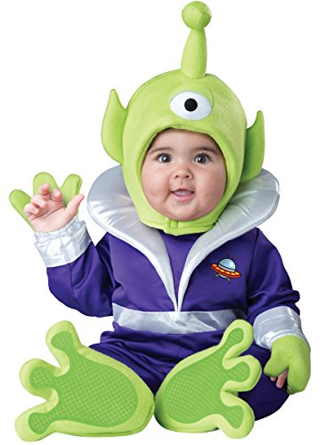InCharacter Costumes Baby's Mini Martian Costume, Green/Purple,