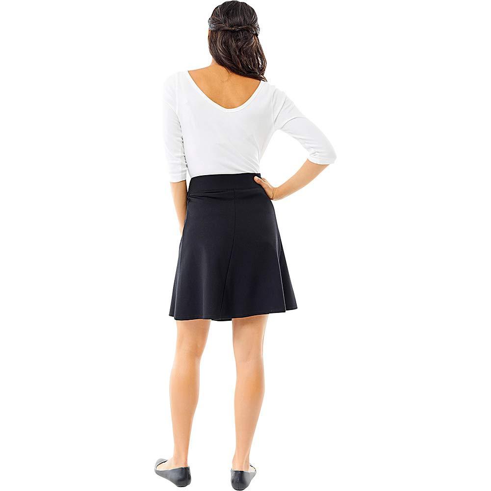 Royal Robbins Women's Geneva Ponte Skirt, Large, Charcoal Heather by Royal Robbins (Image #3)