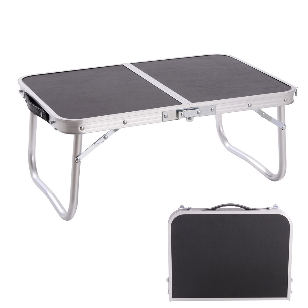CampLand Mini Table Aluminum Folding Table Outdoor Lightweight Portable Foldable Laptop Tables for Patio, Camping, Garden Picnic E