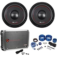 (2) MB QUART FW1-254 10 1200w DVC Car Audio Subwoofers+Mono Amplifier+Amp Kit