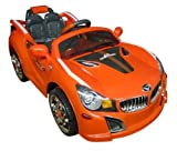 SPORTrax BMW Style Kid's Ride On Car, Battery Powered, Remote Control, w/FREE MP3 Player - Orange