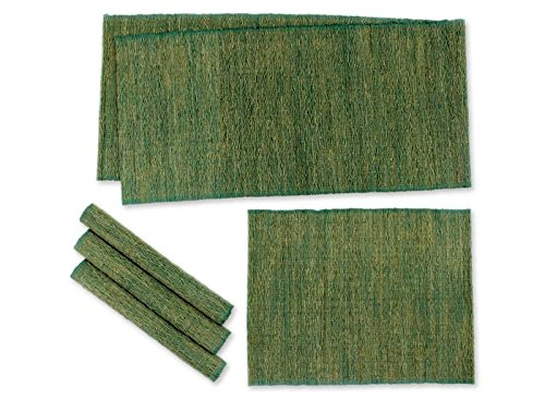 NOVICA Green' (Set of 4) Natural fibers and Cotton Table Runner and placemats