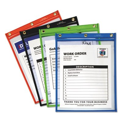 Heavy-Duty Super Heavyweight Plus Shop Ticket Holders, Assorted, 9 x 12, 20/BX C-Line