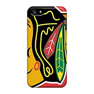 Great Cell-phone Hard Cover For Iphone 5/5s (AsQ9836Wztb) Support Personal Customs Attractive Chicago Blackhawks Skin