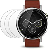 Screen Protector for Moto 360 1st and 2nd Gen 46mm Smart Watch, AFUNTA 3 Pack Tempered Glass Film Anti-Scratch High Definition Shield
