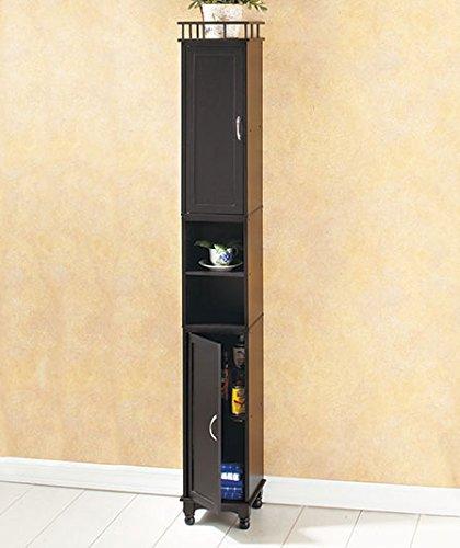 Black Tall Slim Storage Cabinet & Amazon.com: Black Tall Slim Storage Cabinet: Kitchen u0026 Dining