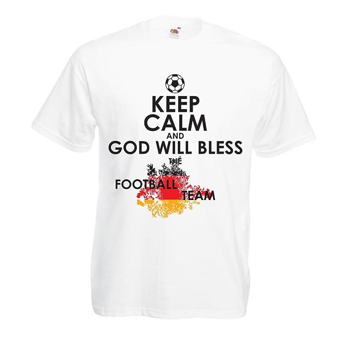 Camisetas Hombre Dios bendecirá al Equipo Nacional de fútbol de Alemania, el Campeonato de Rusia