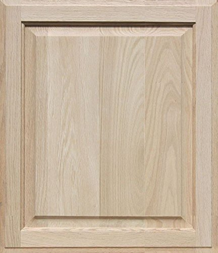 Unfinished Oak Cabinet Door, Square with Raised Panel by Kendor 22H x (Unfinished Wide Cabinet)