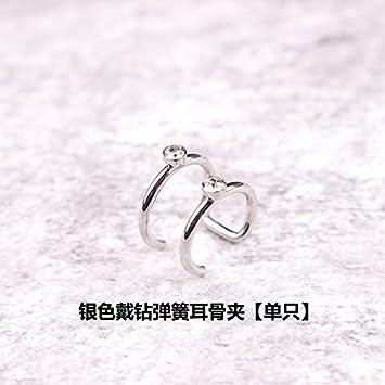 Silver Diamond Ear Bones Clip