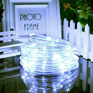 Rope Lights Outdoor Solar rope lights outdoor do it yourselfore solar christmas rope lights 100led33ft solar powered copper wire string lights thanksgiving fairy workwithnaturefo