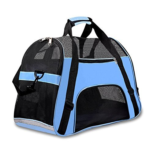 Soft Sided Pet Carrier for Dogs Cats Puppies 19.5