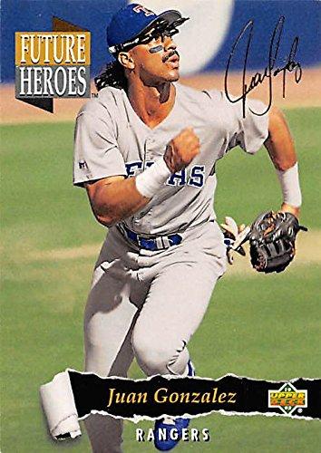 Juan Gonzalez Baseball Card Texas Rangers Of 1993 Upper