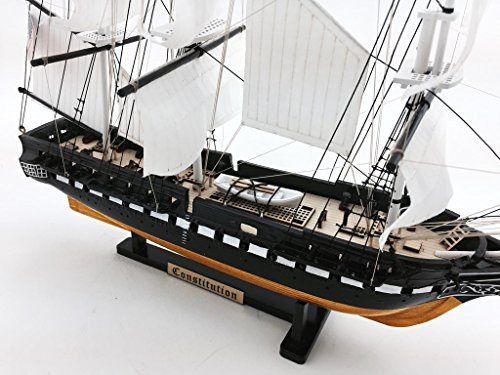 "USS Constitution Limited 18"" Tall Model Warship Decorative Ship NOT A KIT from LK"