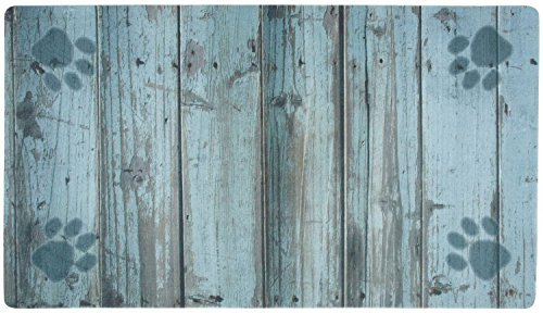 Drymate Distressed Wood Place Mat, - Pet Place.com