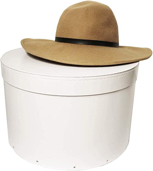 Caja de sombrero, madera, Blanco, Large (D36 x H23cm): Amazon.es ...