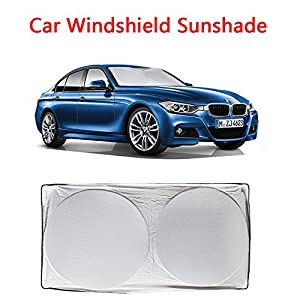 Car Windshield Sunshade - Car Sun shade(63 x 33.5 Inches),Car Sun Protector to Keep Your Vehicle Cool And Damage Free,Blocks UV Rays Sun Visor Protector,210T Fabric Hightest Quality in the Market