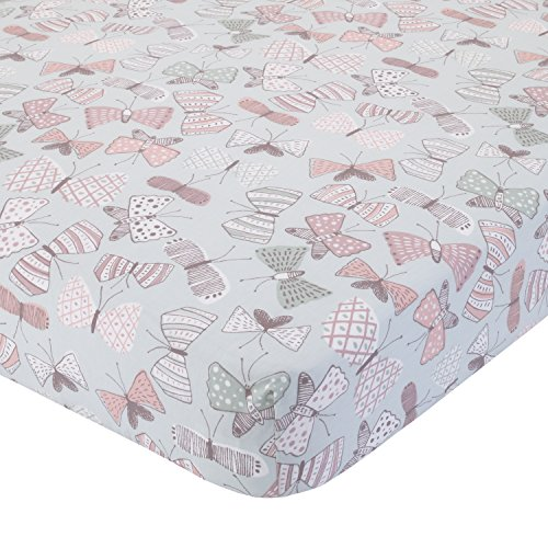 (Dwell Studio Arden Butterfly Print Fitted Crib Sheet,)