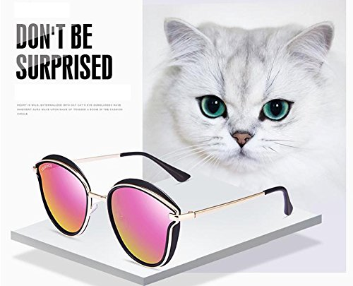 sol de sol polarizadas sol viaje Gafas gafas de C al redondo nuevas Sra viaje gafas marco de aire de de gafas libre retro zafwvqPE